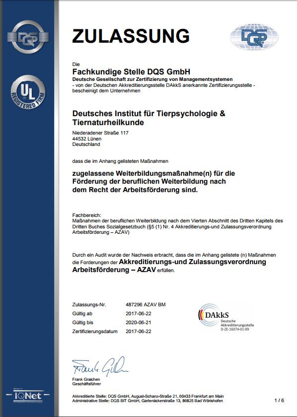 DIFT - Maßnahmen-Zulassung