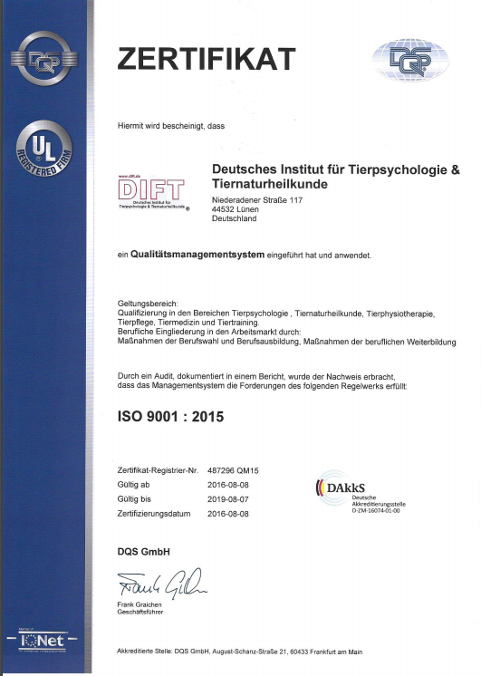 DIFT - AZAV ISO 9001:2015